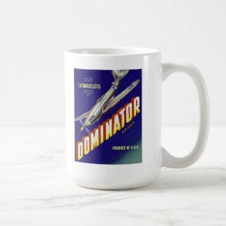 支配者の航空機の農産物のラベルのマグ コーヒーマグカップ
