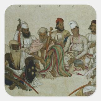 支配者の9人の宮廷人そして使用人 スクエアシール