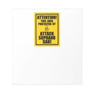 攻撃のソプラノサクソフォーン ノートパッド