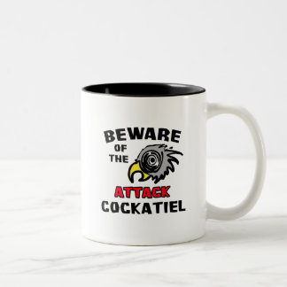 攻撃のCockatiel ツートーンマグカップ