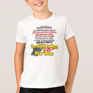 攻撃用武器の子供のTシャツの定義 Tシャツ
