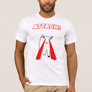 攻撃! ヒツジ- Tシャツ