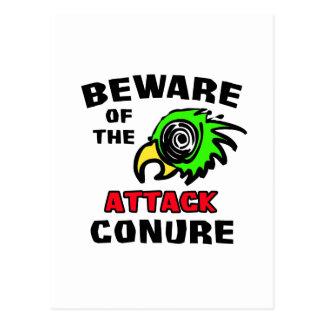 攻撃Conure ポストカード