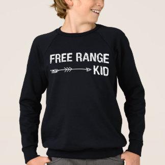 放し飼いの子供のおもしろいなヒップスターの種族の写実的なティー スウェットシャツ