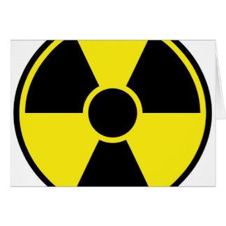 放射の警告標識 カード