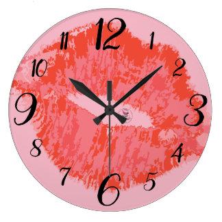 放射復活の柱時計のピンク ラージ壁時計