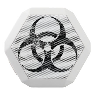 放射性印のスピーカー ホワイトBluetoothスピーカー