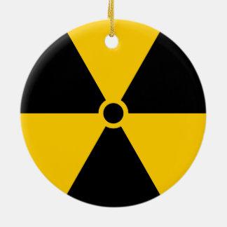 放射性原子炉の黄色および黒 セラミックオーナメント