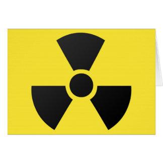 放射性放射の核原子記号 カード