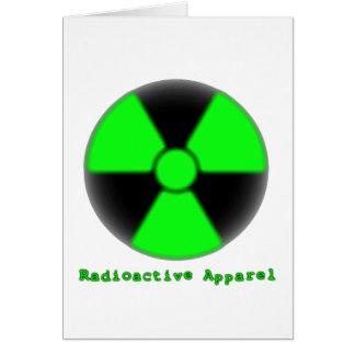 放射性服装 カード