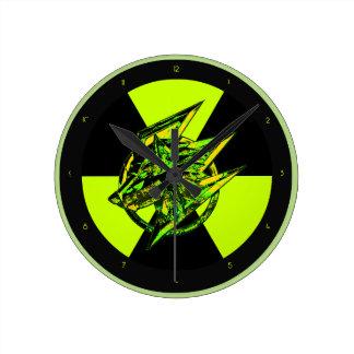放射性石造りの賭博のオオカミ ラウンド壁時計