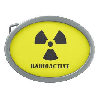 放射性記号の放射ハロウィンは服を着ます 卵形バックル