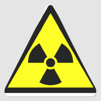 放射性警告のステッカー 三角形シール