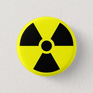放射性警告ボタン 3.2CM 丸型バッジ