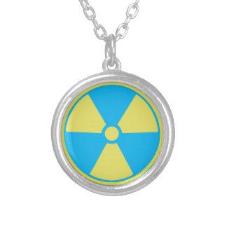 放射性 シルバープレートネックレス