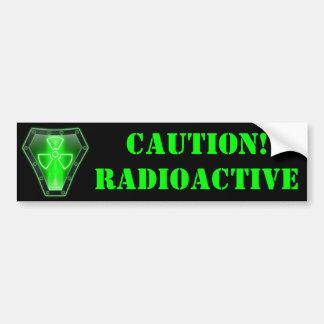 放射性 バンパーステッカー