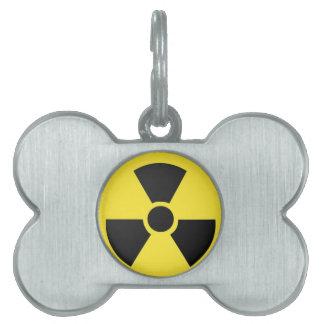 放射性 ペットネームタグ