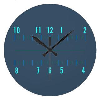 放射状の直角ギークの時計 ラージ壁時計