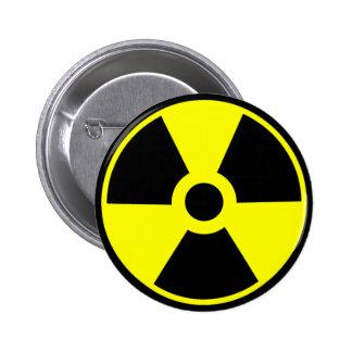 放射線の記号の放射性記号 5.7CM 丸型バッジ