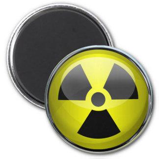 放射線の記号の放射性警告標識 マグネット
