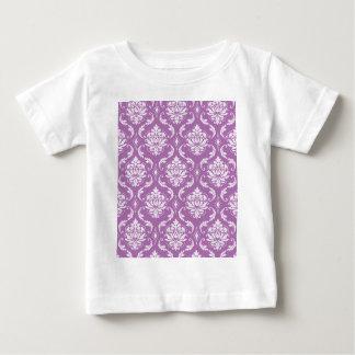 放射蘭のクラシックなダマスク織パターン ベビーTシャツ