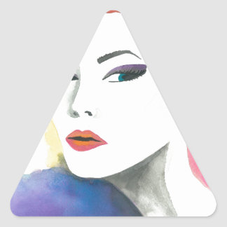 放射 三角形シール
