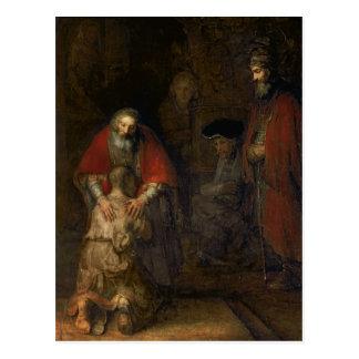放蕩な息子のリターン、c.1668-69 ポストカード