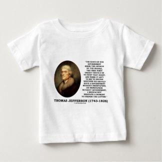 政府のないトーマス・ジェファーソンの意見新聞 ベビーTシャツ
