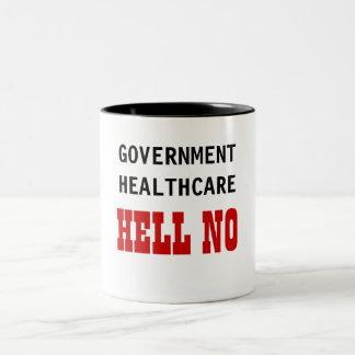 政府のヘルスケアいいえ ツートーンマグカップ