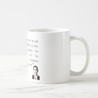 政府の信頼、バラック・オバマ コーヒーマグカップ