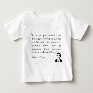 政府の信頼、バラック・オバマ ベビーTシャツ