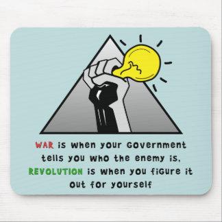 政府の専制政治に対して握りこぶしの団結を マウスパッド