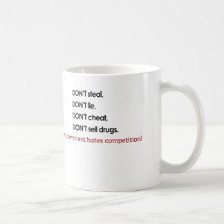 、政府の憎悪の競争はありません コーヒーマグカップ