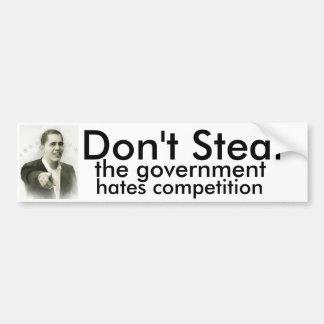 、政府の憎悪の競争盗まないで下さい バンパーステッカー