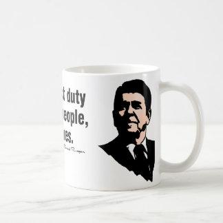 政府の最初義務 コーヒーマグカップ