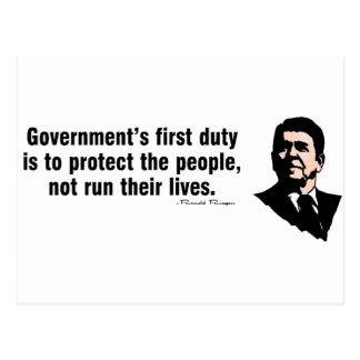 政府の最初義務 ポストカード