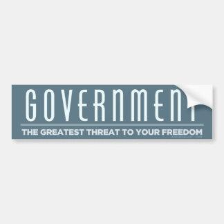 政府の脅威のバンパーステッカー バンパーステッカー