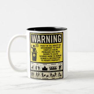政府の警告のマグ ツートーンマグカップ