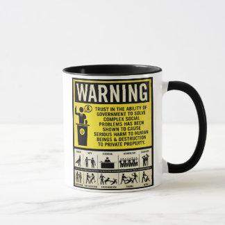 政府の警告のマグ マグカップ