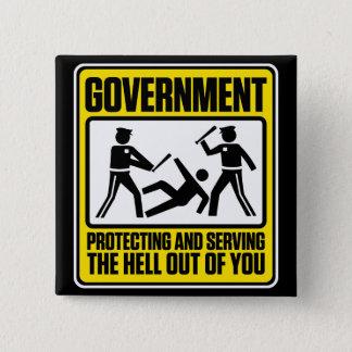 政府の警告ボタン 缶バッジ