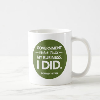 政府は円形私のビジネスを造りませんでした(緑) コーヒーマグカップ