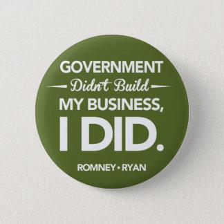 政府は円形私のビジネスを造りませんでした(緑) 5.7CM 丸型バッジ