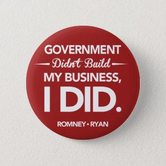 政府は円形私のビジネスを造りませんでした(赤い) 5.7CM 丸型バッジ