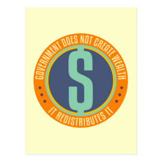 政府は富を作成しません ポストカード