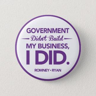 政府は私のビジネス紫色のボーダーを造りませんでした 5.7CM 丸型バッジ