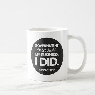 政府は私のビジネス黒ボタンを造りませんでした コーヒーマグカップ