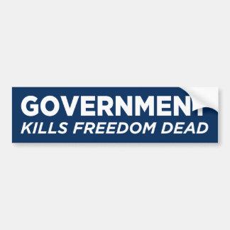 政府は自由の死んだバンパーステッカーを殺します バンパーステッカー