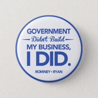 政府は造りませんでした私のビジネス(青いボーダー)を 5.7CM 丸型バッジ