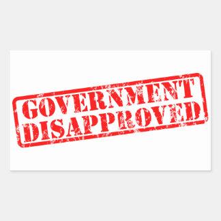 政府は非難しました 長方形シール