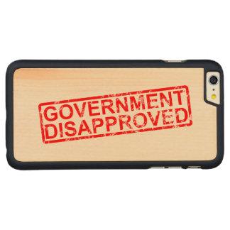 政府は2非難しました CarvedメープルiPhone 6 PLUS スリムケース
